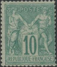 """FRANCE STAMP TIMBRE N° 65 """" SAGE 10c VERT TYPE I 1876 """" NEUF xx A VOIR J916"""