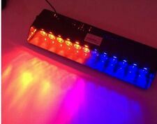 Bright 12LED FLASH STROBE BAR  DASH POLICE EMERGENCY WARNING LIGHT Red/Blue HF