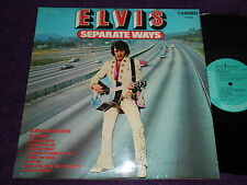 "ELVIS PRESLEY "" Separate Ways""  UK LP   RCA CDS 1118"