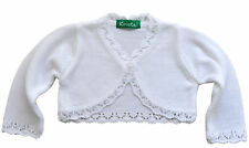 Long Sleeve Knitted Girls /Baby Bolero, Dress Top, Wedding,Christening,Christmas