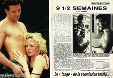 Coupure de Presse Clipping 1986 (2 pages) Film 9 semaines 1/2 Basinger Rourke
