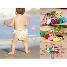 Lot 100Pcs Mixed Color Safety Locking Baby Cloth Nappy Diaper Craft Pins