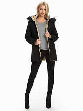 NEW RALPH LAUREN DENIM & SUPPLY BLACK DOWN JACKET WITH REMOVABLE HOOD SIZE M