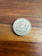 GB UK 1993 £1 ONE POUND Coin QEII Decimal  Royal Arms  good circulated