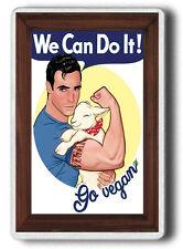 Vegan Fridge Magnet! Go for Vegan FRIDGE MAGNET!Funny  JUMBO SIZE