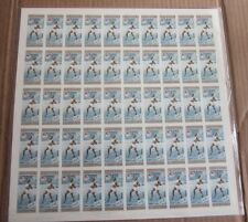 1956  DOMINICAN REPUBLIC OLYMPIC  50 STAMP IMPERFORATED PANE-MILTON CAMPBELL