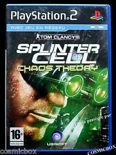 SPLINTER CELL CHAOS THEORY Tom Clancy's jeu console SONY PlayStation 2 PS2 testé