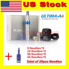 Dr Pen Derma Pen A6 Rechargable Microneedle System+9/12/36/42Pin Cartridges*20