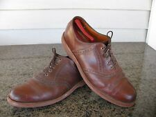 LL Bean Sz 11 E Brown Leather Oxfords Perforated Men's Shoes