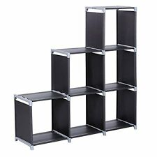 SONGMICS 3-tier Storage Cube Closet Organizer Shelf 6-cube Cabinet Bookcase