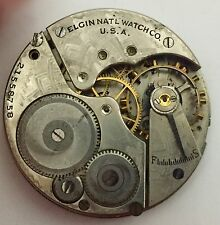 16 Size Elgin Watch Movement For Parts~Broken Staff, 3rd And 4th Wheels Bad