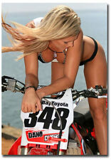 "Motocross Sexy Girl Fridge Toolbox Magnet Collectible Size 2.5"" x 3.5"""