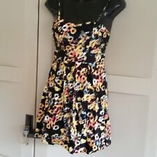 NEW Womens S Material Girl Sun Dress Side Cut Out Abstract Flowers $59.50 Macys