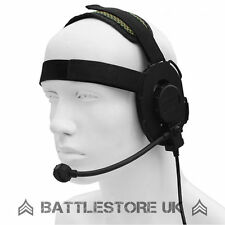 Z Tactical Bowman Evo III Headset Airsoft Mic Radio Boom 3 Black zTactical Z029