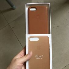 "SADDLE BROWN GENUINE ORIGINAL Apple Leather Case For iPhone 7 4.7"" TOP SELLER"