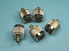 5 COAX ADAPTER RF CONNECTOR N MALE TO SMA FEMALE NEW