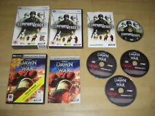 Company OF HEROES & WARHAMMER DAWN OF WAR 1 Double Pack PC DVD ROM Post veloce