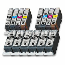 14 PACK PGI-220 CLI-221 Ink Tank for Canon Printer Pixma iP3600 iP4600 NEW