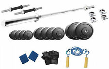 Protoner  48 Kgs With 3 Feet Straight Rod Weight Lifting Home Gym Fitness Pack