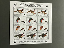 WWF-Briefmarken Nicaragua 1994 Vögel Sheetlet MNH - Kleinbogen
