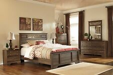 "Ashley ""Allymore"" Queen Panel 6 Piece Bed Set Furniture B216"