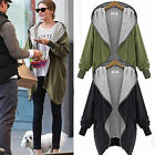 Oversized Women Zip-Up Hoodies Hooded Cardigan Long Parka Jacket Top Coat