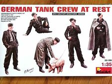 Miniart 1:35 German Tank Crew At Rest Figures Model Kit