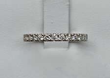 Platinum 16 Diamond Set Wedding Band(.32 ct approx, size M)