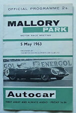 MALLORY PARK 5 May 1963 BRSCC MOTOR RACE MEETING Official Programme