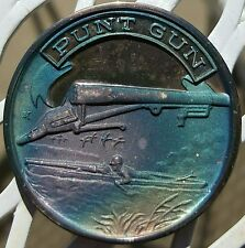Rare - NRA Punt Gun .999 Silver Medal 4,000 Minted Boat Duck Hunting