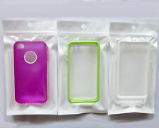 100x White+Clear Plastic Retail Packaging for  Mobile Phone Case and Accessories
