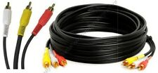 25ft long Triple RCA Audio&Video,a/v AV Yellow/Red/White TV/VCR/DVD/LCD Cable