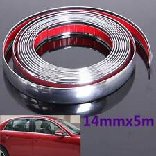 14mm x 5m Chrome Car Styling Moulding Strip Trim Adhesive Crash Protecter Decal