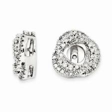 14k White Gold Pave Diamond 0.50ct G/SI1 Earring Jacket For Stud Post Earrings