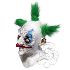 Halloween Overhead Latex Sinister Killer Clown with Green Hair Horror Party Mask