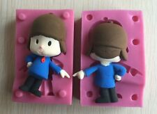 3D Silicone Fondant Mould For Macking Pocoyo Cake For Kids pastry candy mold set
