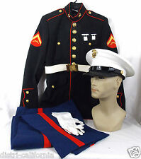 Uniforme militaire complet USMC parade corp des Marines Americains Dress blues