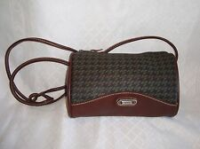 Vtg ESPRIT Purse,Small Barrel Shoulder Bag,Crossbody,Brown,Green,Blue Messenger