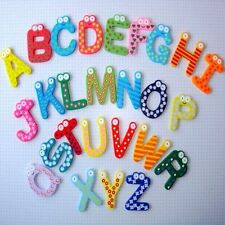 Wooden Fridge Magnet Alphabet Kids Educational Toy Baby Gift MultiColor