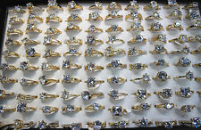 45pcs Wholesale Mixed Lots Shining Clear CZ Wedding Engagement Gold P Ring EH312