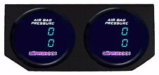 Two Dual Digital Display 200psi Air Gauges & Panel No Switch Air Ride Suspension