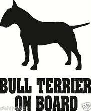English bull terrier On Board, Car Sticker, silhouette. Great Gift For Dog Lover
