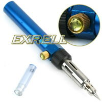 Cordless Gas Blow Torch Soldering Solder Iron Gun Butane Welding Pen Burner Tool