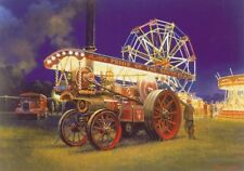 Showmans Traction Engine Steam Fair Carnival Rides Birthday Card