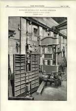 1891 Fawcett Preston Liverpool Cyclone Hydraulic Baling Press