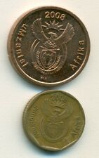 2 COINS from SOUTH AFRICA - 5 & 10 CENTS (BOTH DATING 2008).