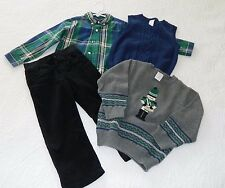 GYMBOREE Christmas Holiday Traditions Complete Set Pants Shirt Vest Sweater 3/4