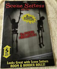 Halloween - Hanging Skeletons Scene Setter, 2 Giant Decorations over 5 ft. Tall