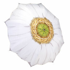 White Daisy Luxury Folding Umbrella. Wind Proof. Automatic Open/Close (GFFWD)