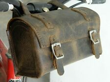 Box Bike Bag New Leather for most bikes Rustic Brown Vintage Look Saddle Bag